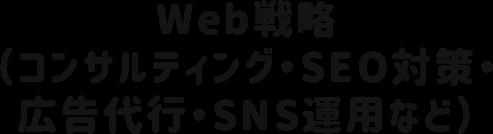 Web戦略(コンサルティング・SEO対策・広告代行・SNS運用など)